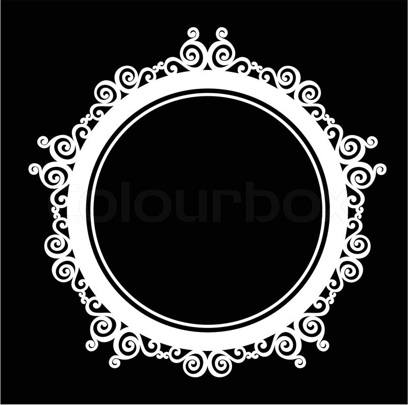 800x794 Circle Ornamental Vintage Baroque Frame. Stock Vector Colourbox