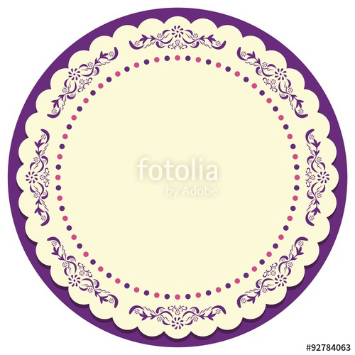 500x500 Circle Vintage Frame Vector Stock Image And Royalty Free Vector