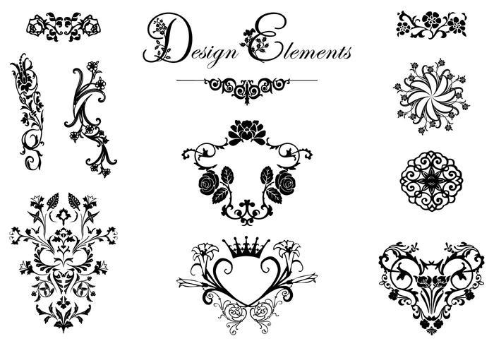 700x490 Floral Design Ornament Vector Pack