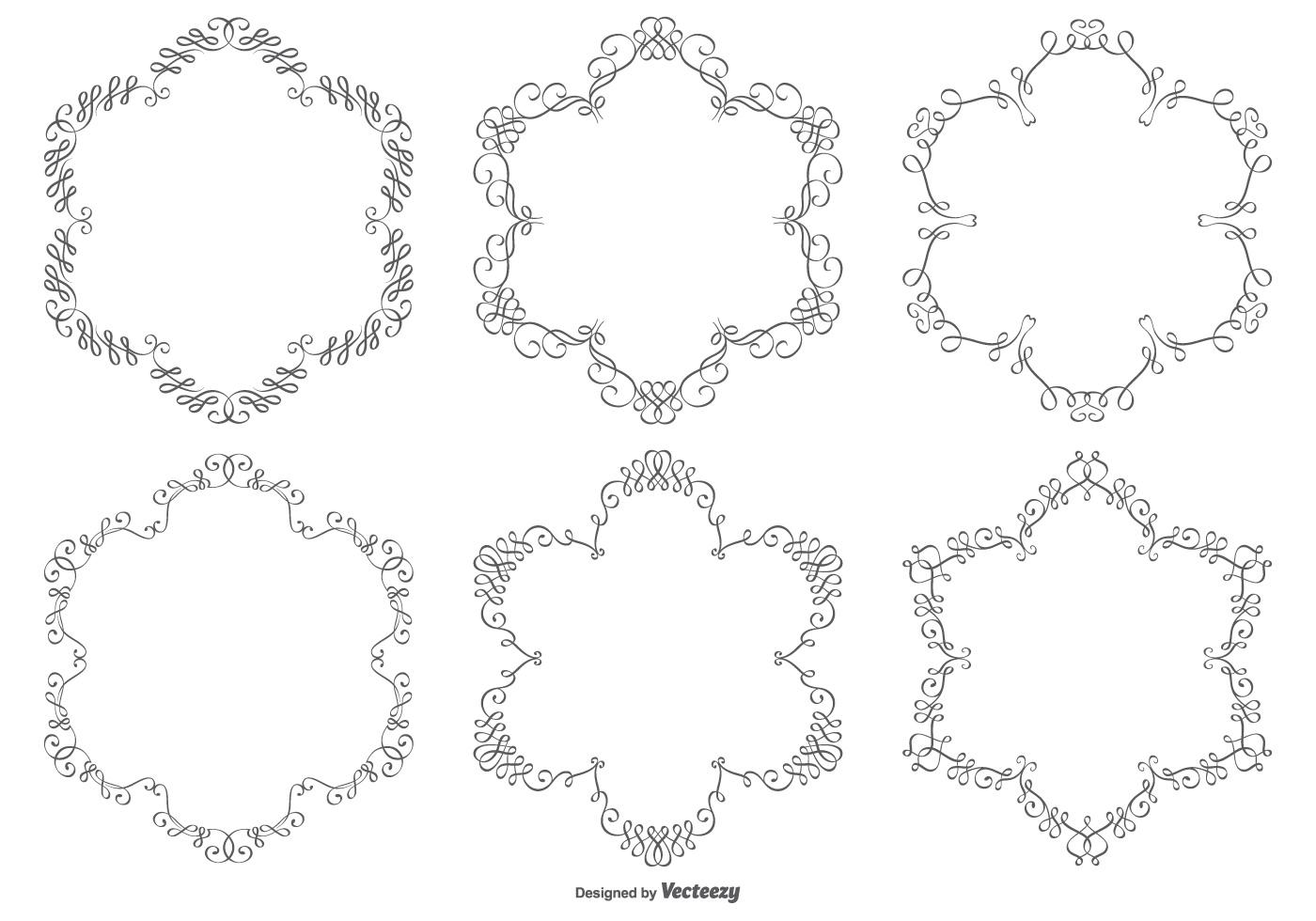 1400x980 Free Vector Ornamental Borders