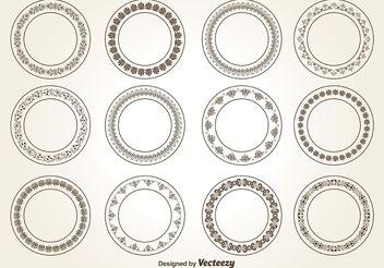 352x246 Incas Circle Ornament Vector Set Free Vector Download 381167