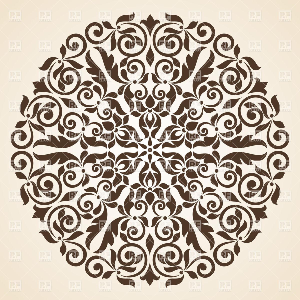 1200x1200 Round Brown Kaleidoscopic Ornament Vector Image Vector Artwork