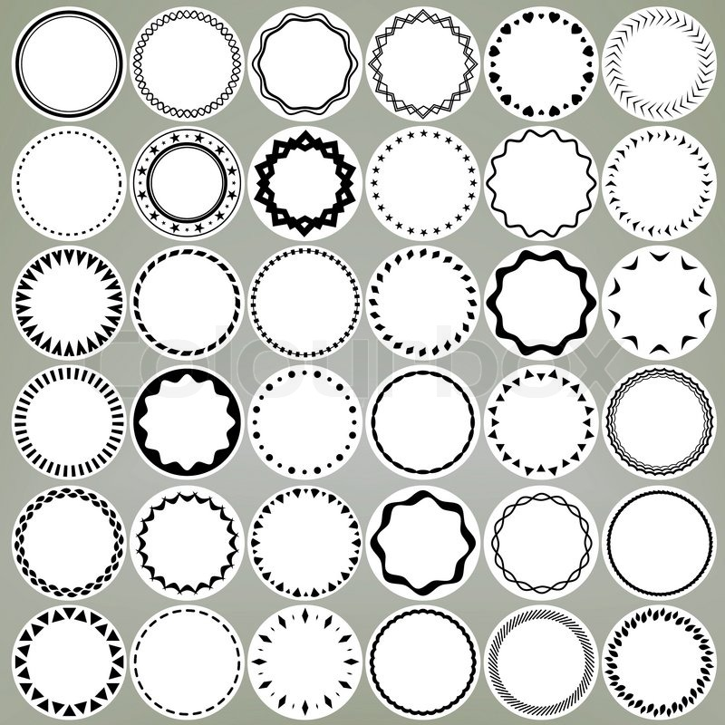 800x800 Set Of Round And Circle Ornament Patterns As Copyspace Design