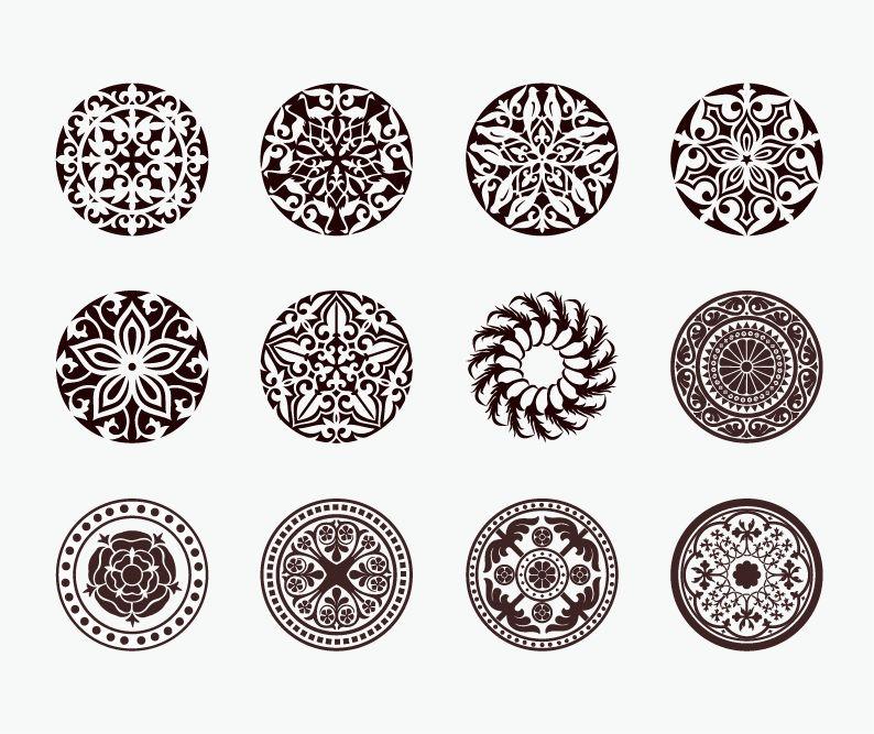 794x667 Vector Set Of Beautiful Circle Ornament Free Vector Graphics