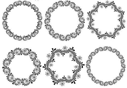 515x356 Circle Ornamental Frames 2 Ai Format Free Vector Download