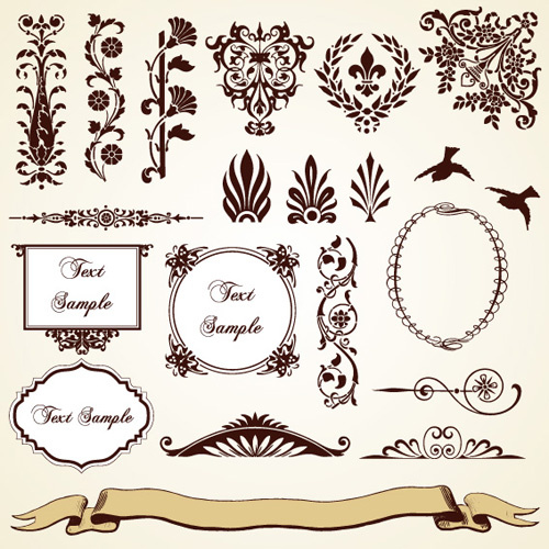 500x500 Vintage Pattern Area Borders And Ornaments Vector Free Vector In