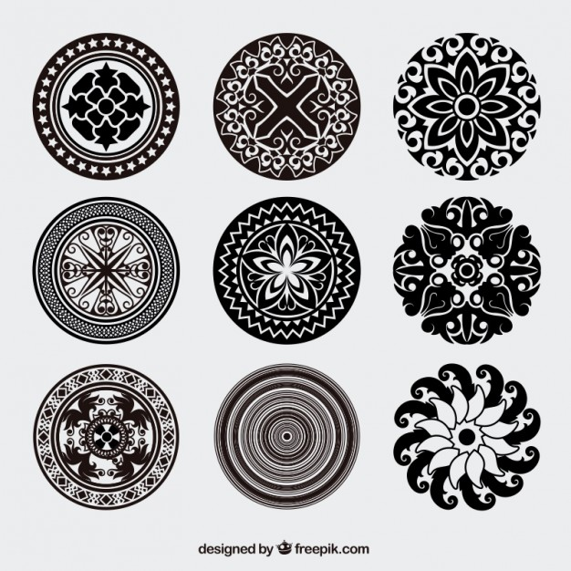 626x626 Vintage Rounded Ornaments Vector Free Download