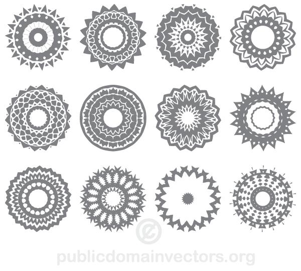 600x540 Circle Ornaments Vector 123freevectors
