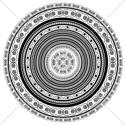 400x400 Circle Lace Ornament Vector Image Vector Artwork Of Design