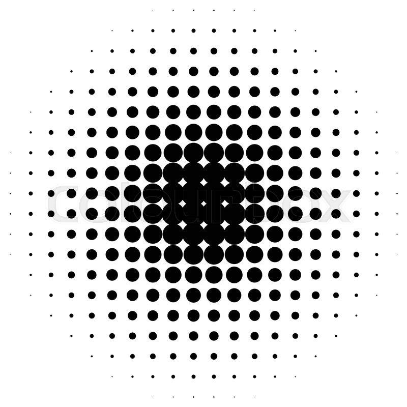 800x800 Circle Halftone Element. Monochrome Dotted Circular Pattern