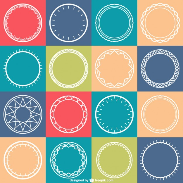 626x626 Circles Pattern Vector Vector Free Download