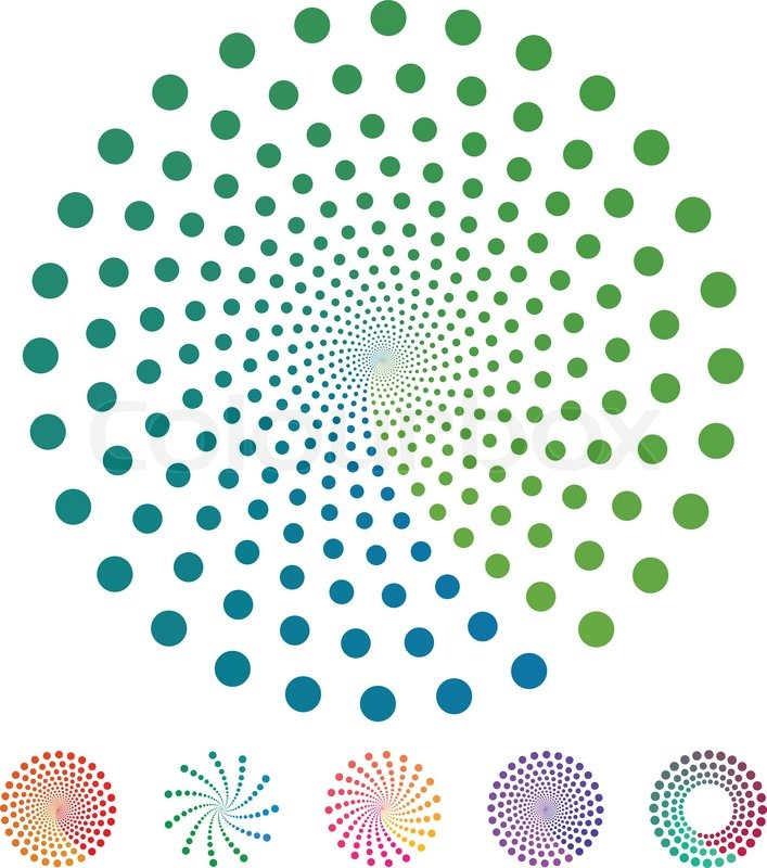 707x800 Dots Pattern. Vector Elements Made Of Circles. Vector Design