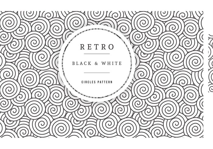 700x490 Free Vector Black And White Circles Pattern 107545