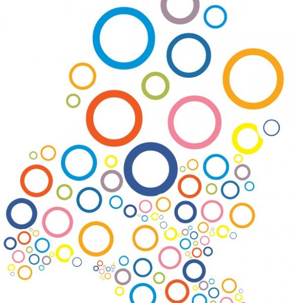 600x616 Multiple Circles Pattern Vector Background