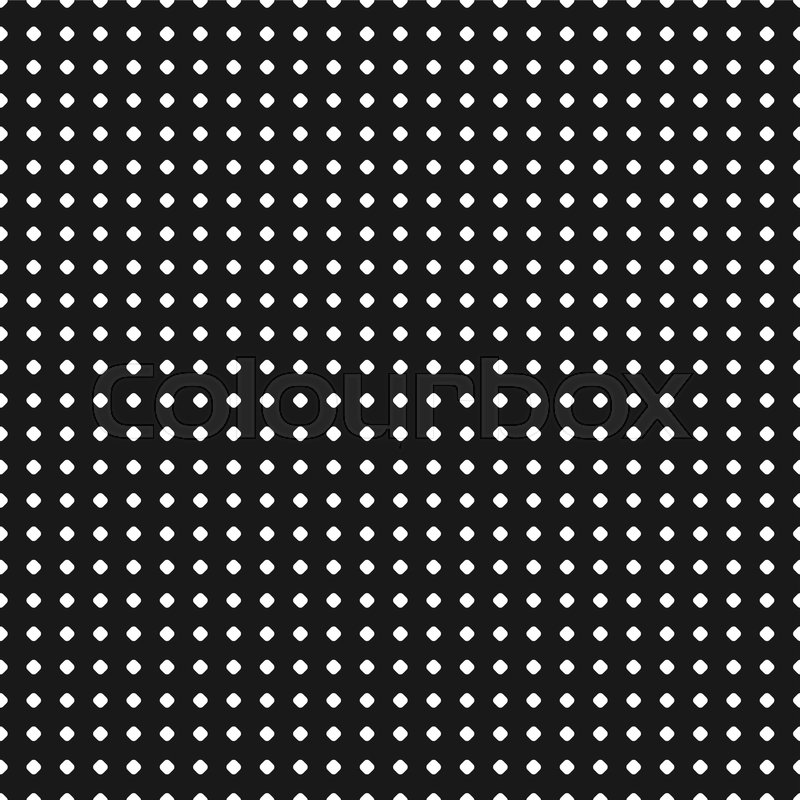 800x800 Polka Dot Pattern. Vector Seamless Texture. Abstract Black Amp White