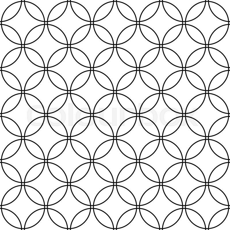 800x800 Repeat Monochromatic Vector Circle Pattern Design Background