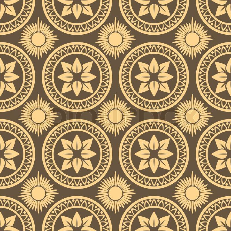 800x800 Retro Seamless Circle Background Vintage Wallpaper Texture Royal