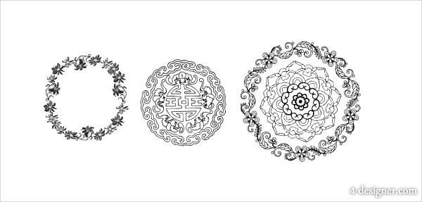 600x287 4 Designer Circular Pattern Vector