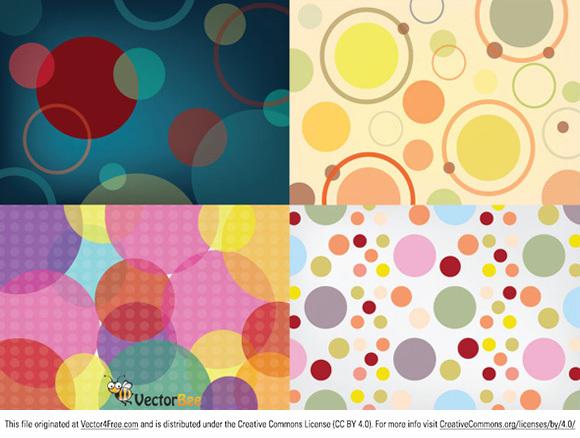 580x438 Seamless Vector Circle Patterns