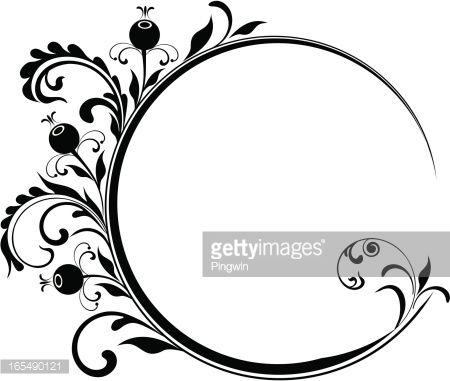 450x381 Circle Frame With Berry Fruit. 2 Circle Art Vector