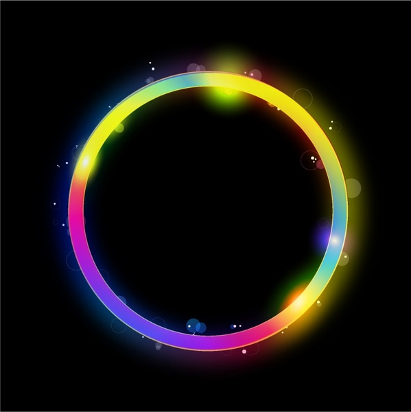 599x600 Glowing Circle Vector Free Vector In Adobe Illustrator Ai ( .ai