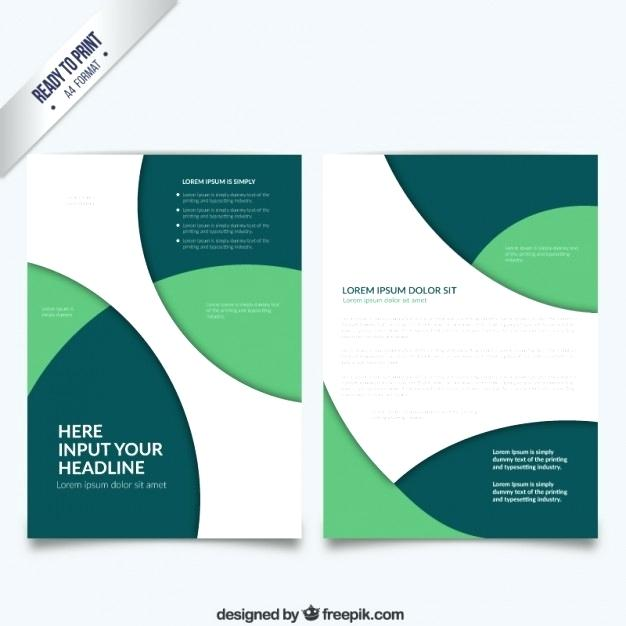 626x626 Green Brochure Template Circle With Circles Vector Free Download