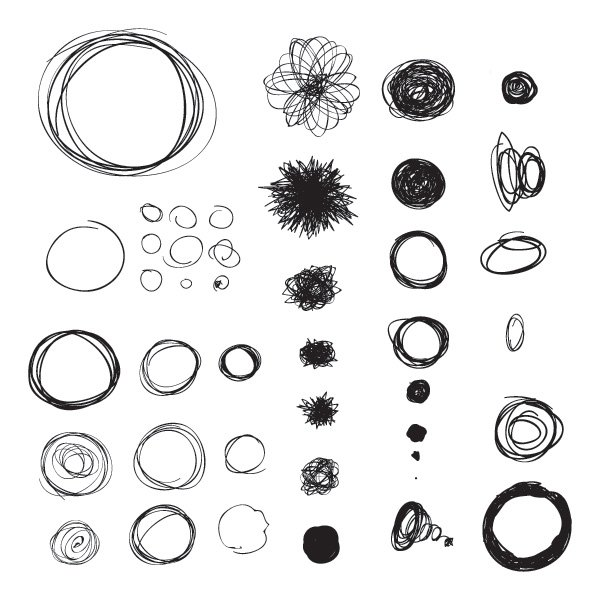 600x600 Hand Drawn Circles Vector Graphic Vector Free Vector Download In