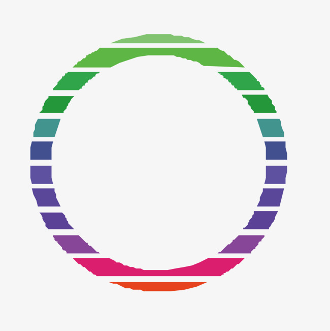 650x651 Vector Color Cut Circle Hollow Circle, Color Vector, Circle Vector