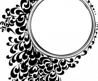 336x280 Vector Filigree Circle Vector Clip Art