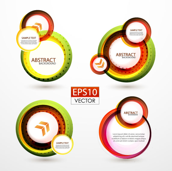 572x570 Abstract Circle Concept Background Vector 01 Free Download
