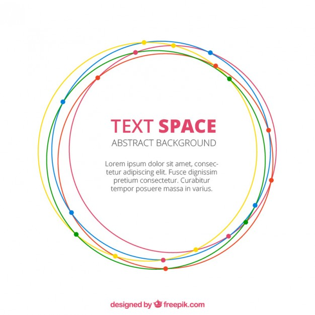 626x626 Abstract Background With Circles Vector Free Download