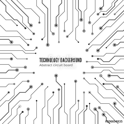 500x500 Concept Of Circuit Board Background Isolated On White Background