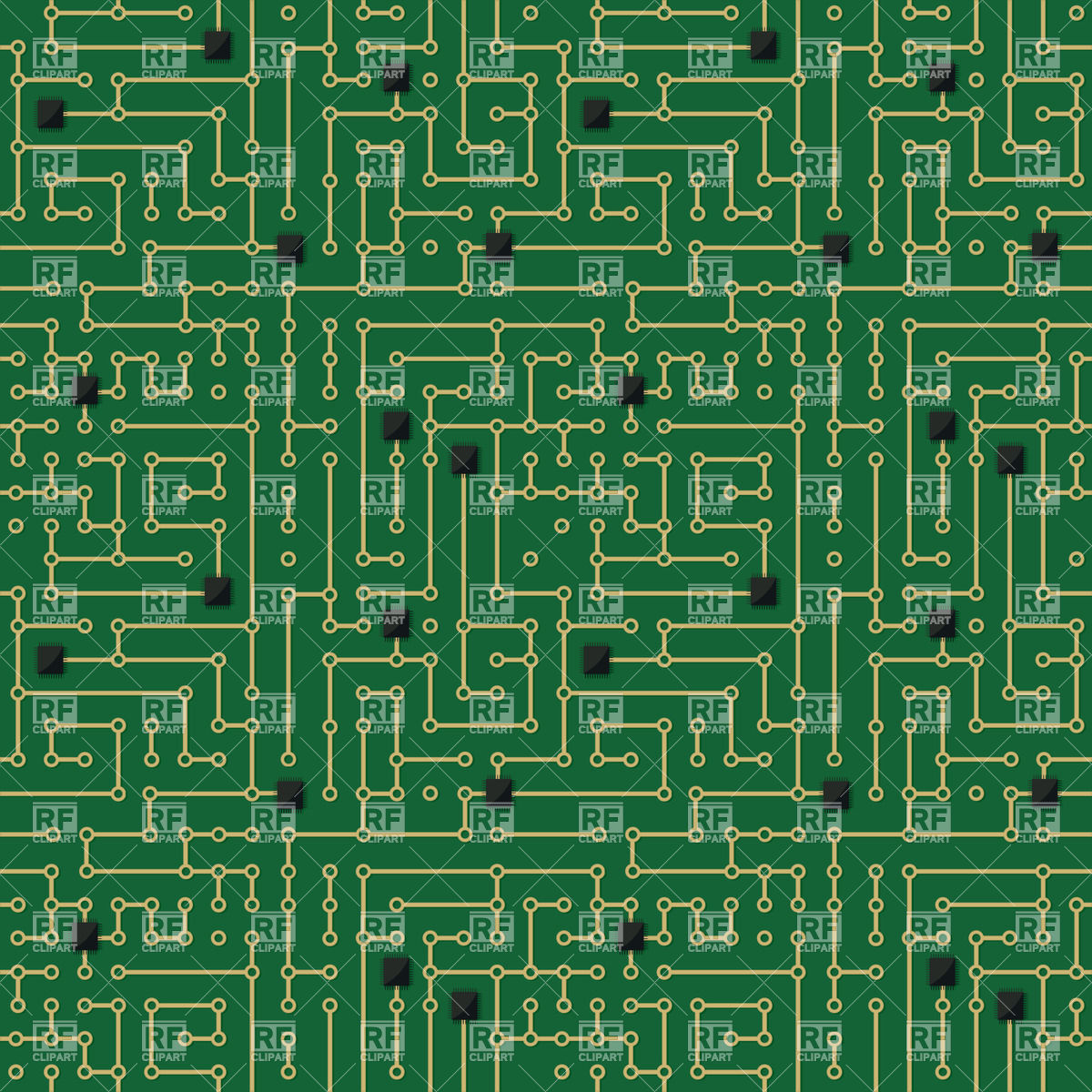 Circuit Board Pattern Vector At Free For Personal Illustration Royalty Stock Image 1200x1200 Computer Seamless