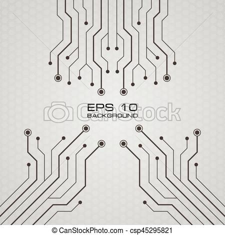 450x470 Vector Printed Circuit Board Background. Printed Circuit Board
