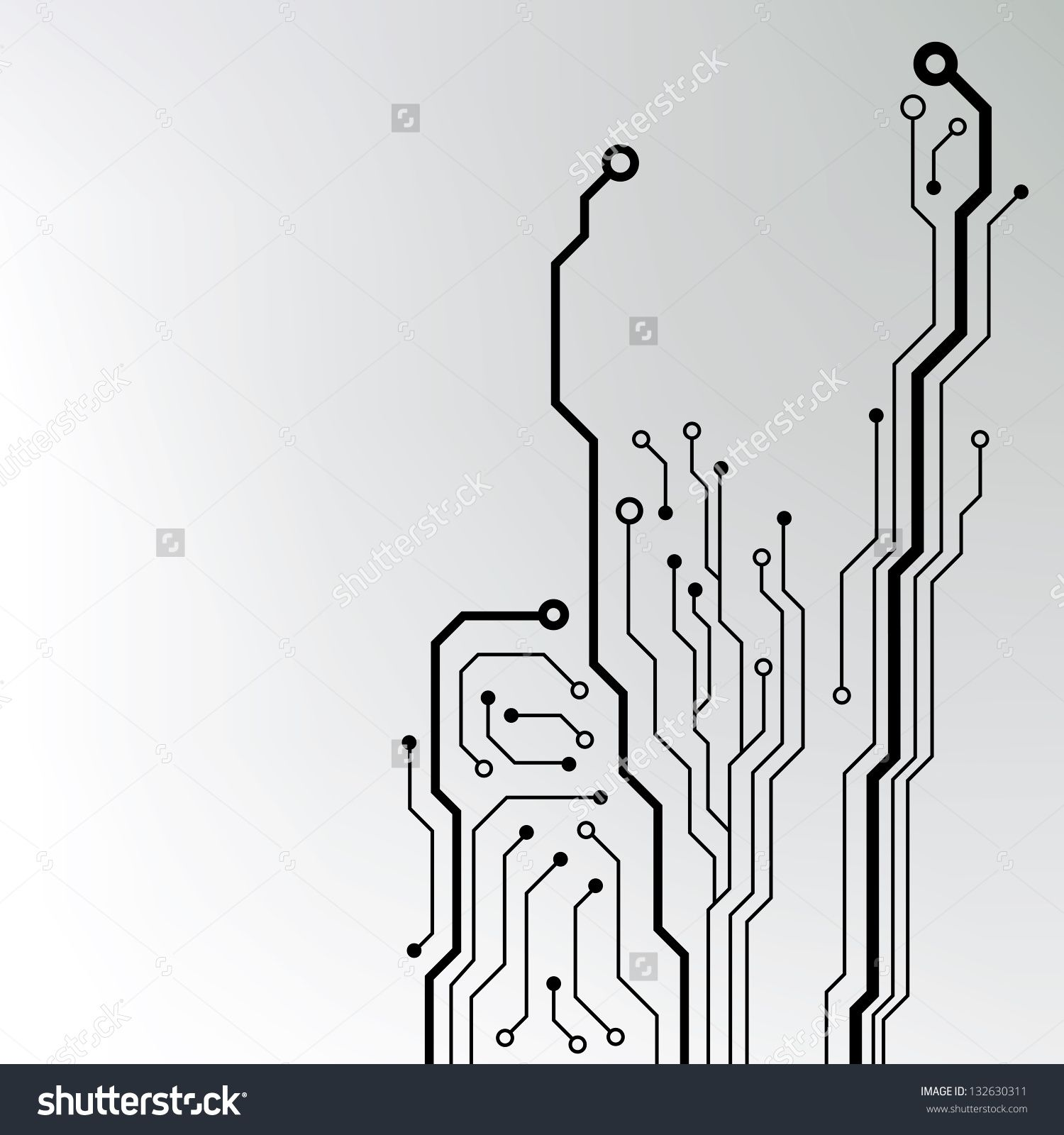 1500x1600 Circuit Board Pattern. Abstract Technology Circuit Board Vector