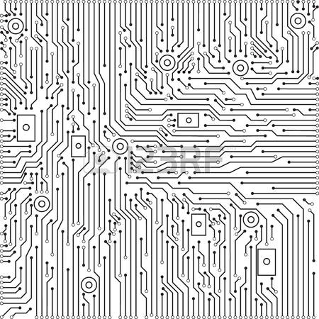 450x450 Circuit Board Vector Free Download Circuit Board Black And White