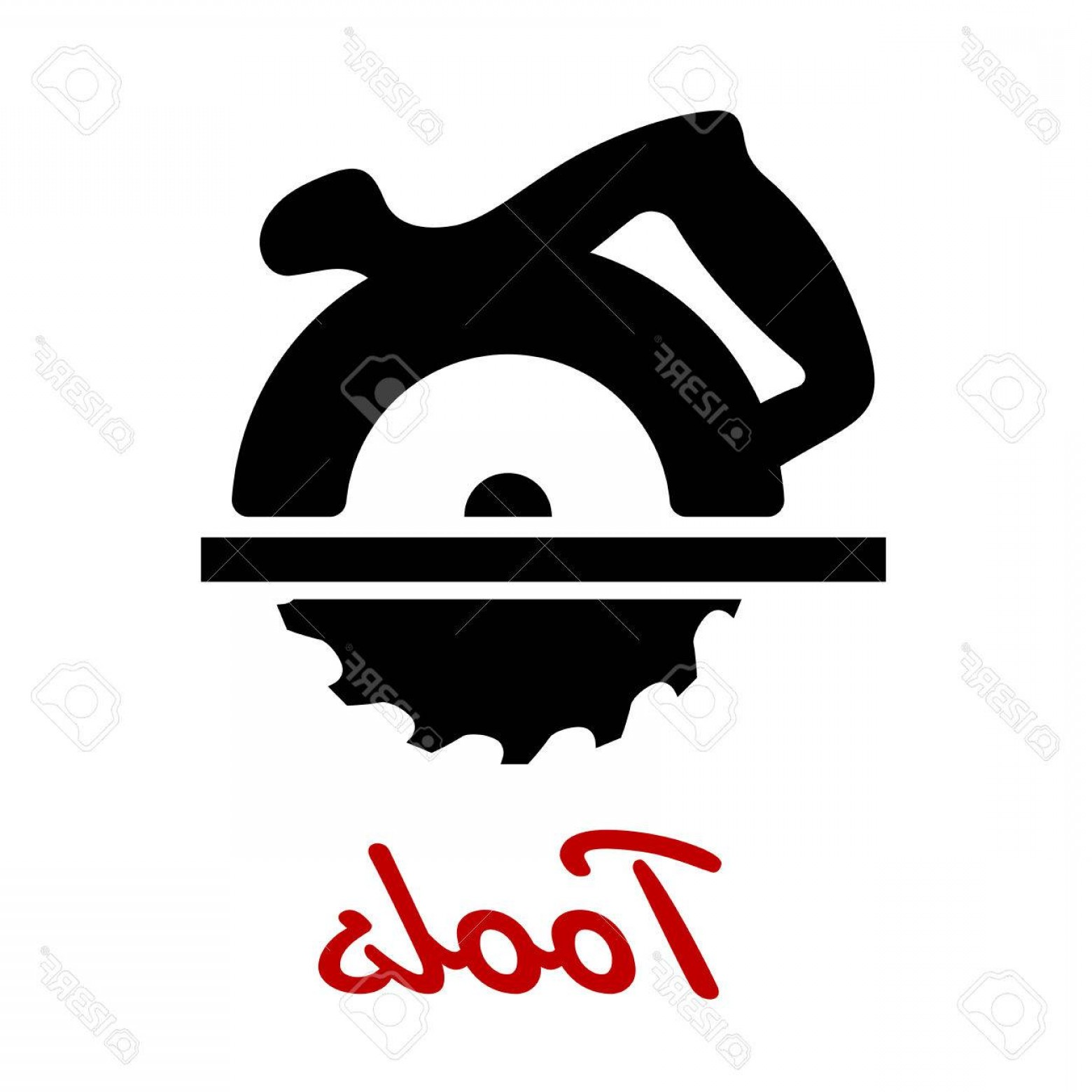 1560x1560 Photostock Vector Miter Saw Black Icon With Circular Saw Blade And