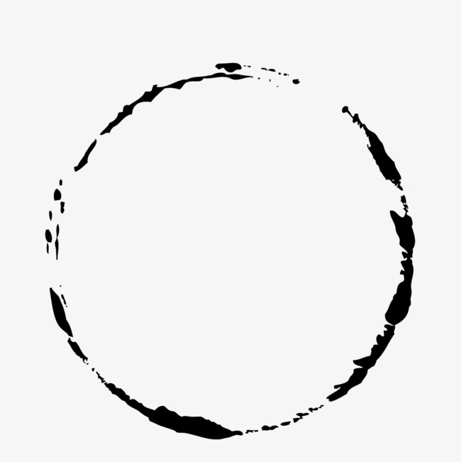 650x651 Simple Black Ink Circle, Black Vector, Circle Vector, Black Png