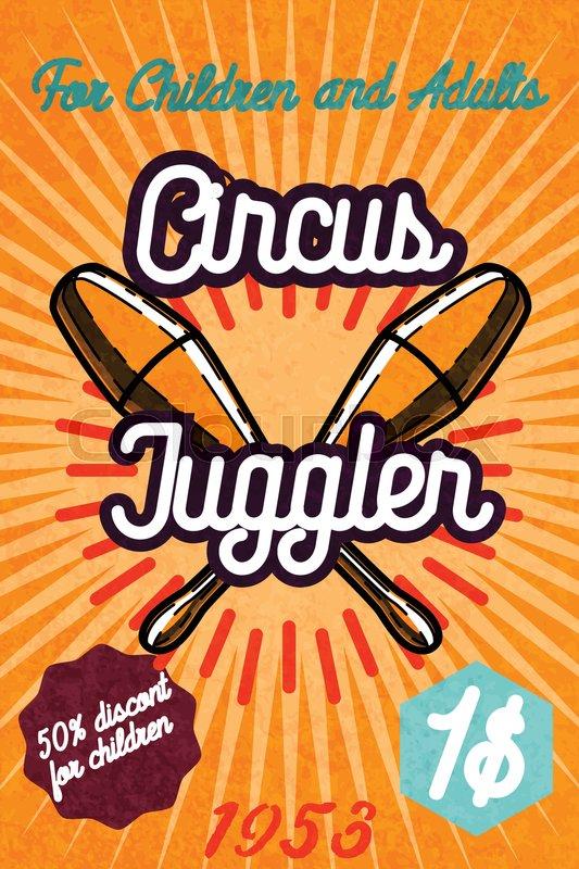 533x800 Cute Circus Card Design. Circus Banner. Vector Illustration, Eps