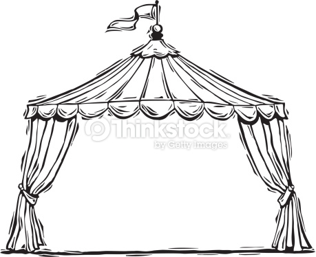 459x374 Collection Of Circus Tent Line Drawing High Quality, Free
