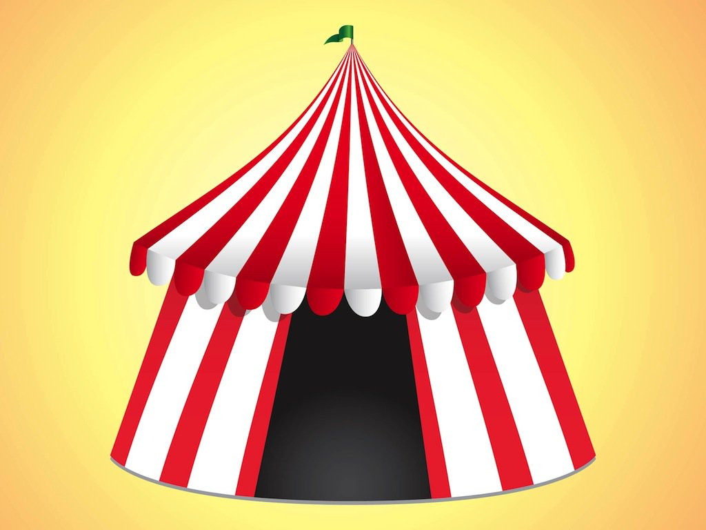1024x768 Circus Tent Vector Art Amp Graphics