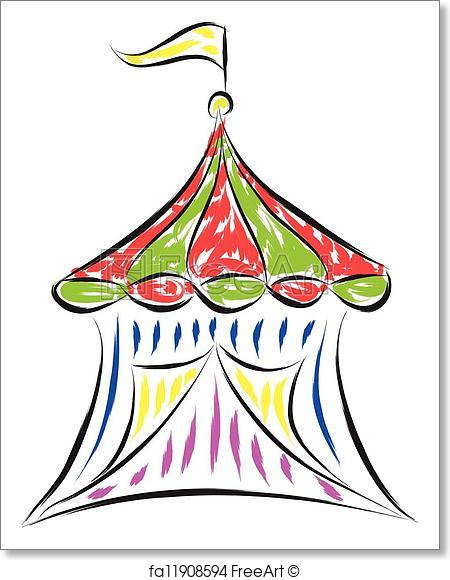 450x580 Free Art Print Of Circus Tent . Doodle Drawing Of Circus Tent
