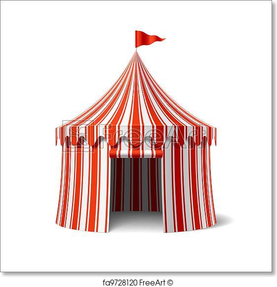 561x581 Free Art Print Of Circus Tent. Circus Tent Vector Illustration