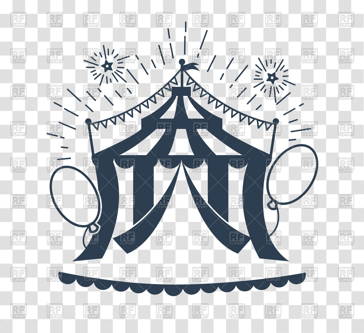 1200x1097 Icon Of Circus Tent Vector Image Vector Artwork Of Sport And