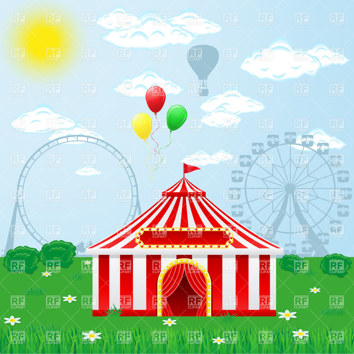 1199x1200 Outdoor Circus Tent Vector Image Vector Artwork Of Objects