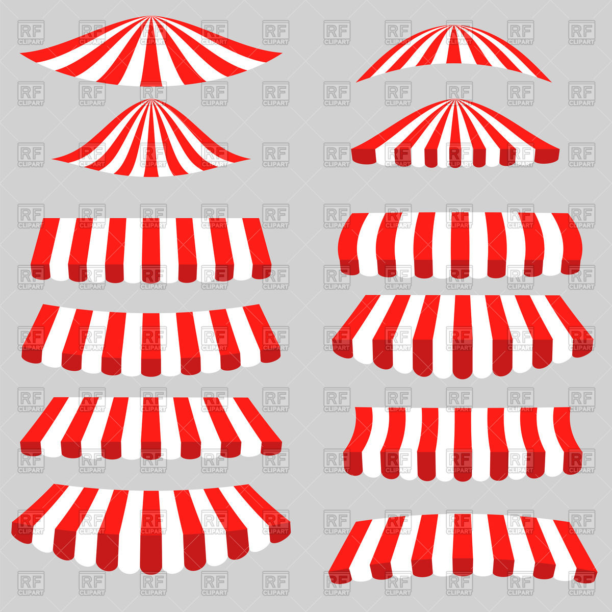 1200x1200 Set Of Red And White Tents Vector Image Vector Artwork Of