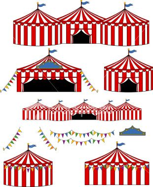 310x380 Vector Illustrations Of Bigtopcarnival Circus Tents.tents Are