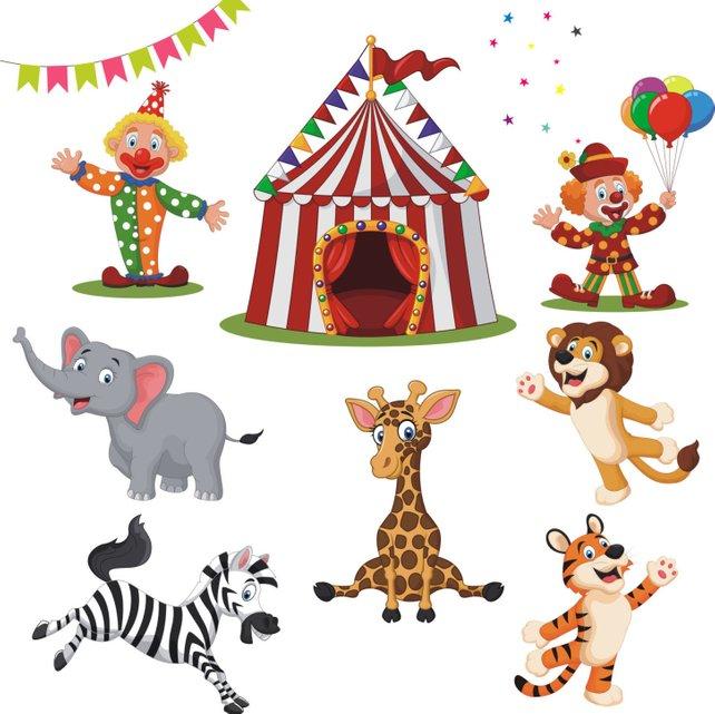 642x641 Circus Clipart Circus Vector Circus Clip Art Clowns Etsy