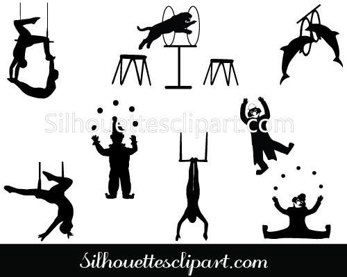 500x400 Circus Silhouette Vector Graphics Download Circus Vectors