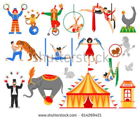 450x380 Circus Vector Art Circus Clown Vectors Download Free Vector Art
